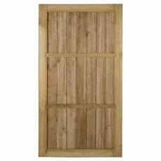 6ft High Forest Pressure Treated Square Lap Gate - Reverse of gate