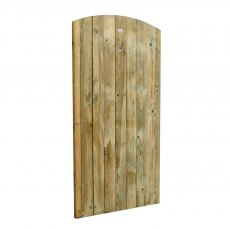6ft High Forest Heavy Duty Tongue and Groove Gate - Isolated angled view