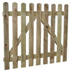 Isolated view of 3ft High Forest Heavy Duty Pale / Palisade / Picket Gate