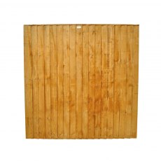 6ft High (1850mm) Forest Featheredge Fence Panel
