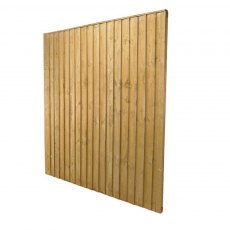 6ft High (1850mm) Forest Featheredge Fence Panel - Reverse Angled