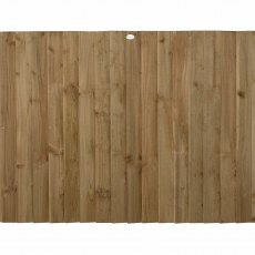 4ft High (1200mm) Forest Pressure Treated Featheredge Fence Panel