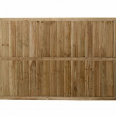 4ft High Forest Pressure Treated Featheredge Fence Panel - Rear view