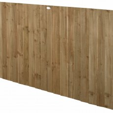 4ft High Forest Pressure Treated Featheredge Fence Panel - Angled view