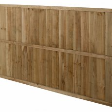 4ft High Forest Pressure Treated Featheredge Fence Panel - Rear angled view