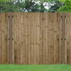 4ft High Forest Pressure Treated Featheredge Fence Pane - In Situ