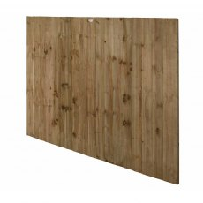 5ft High Forest Pressure Treated Featheredge Fence Panel - Angled