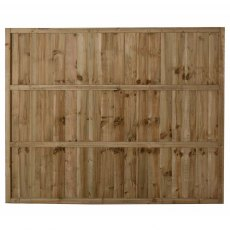5ft High Forest Pressure Treated Featheredge Fence Panel - Rear