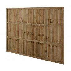 5ft High Forest Pressure Treated Featheredge Fence Panel - Rear Angled
