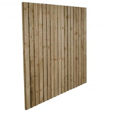 6ft High Forest Pressure Treated Featheredge Fence Panel - Angled view