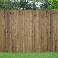 6ft High (1800mm) Forest Pressure Treated Featheredge Fence Panel - In Situ