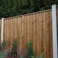 6ft High (1830mm) Forest Pressure Treated Featheredge Contractor Panel