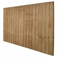 4ft High Forest Pressure Treated Vertical Board Fence Panel  - Angled view