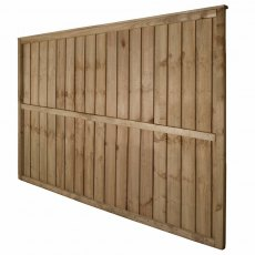 4ft High Forest Pressure Treated Vertical Board Fence Panel - Rear angled view
