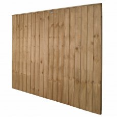 5ft High Forest Pressure Treated Vertical Board Fence Panel - Angled View