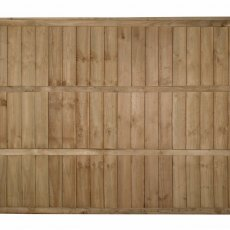 5ft High Forest Pressure Treated Vertical Board Fence Panel - Rear view