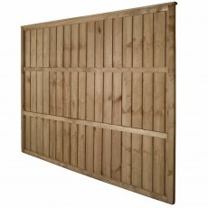 5ft High Forest Pressure Treated Vertical Board Fence Panel - Rear angled view