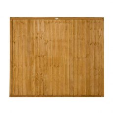 5ft High Forest Closeboard Fence Panel - Isolated view