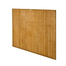 5ft High Forest Closeboard Fence Panel - Angled view