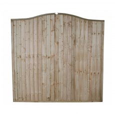 6ft High (1830mm) Forest Pressure Treated Board Wave Panel