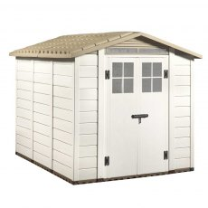 8 x 7 (2.43m x 2.03m) Shire Tuscany EVO 240 Plastic Shed – Double Doors