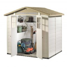 Shire Tuscany EVO 200 Plastic Shed - isolated