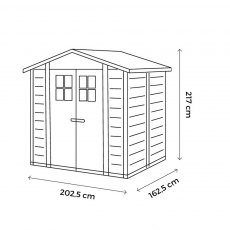 Shire Tuscany EVO 200 Plastic Shed - dimensions