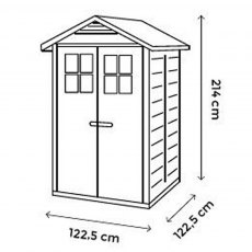 Shire Tuscany EVO 120 Plastic Shed - dimensions