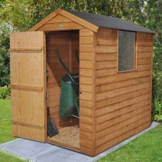 6 x 4 (1.83m x 1.33m) Forest Overlap Apex Shed With Easy Fit Roof