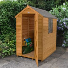 6 x 4 (1.82m x 1.32m) Forest Overlap Apex Garden Shed