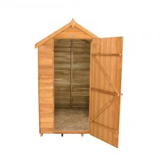 6 x 4 Forest Overlap Apex Garden Shed - Front view