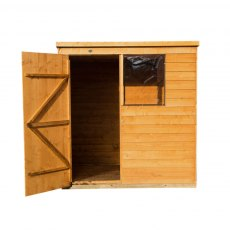 4 x 6 Forest Overlap Pent Garden Shed - Isolated
