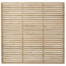 6ft High (1800mm) Forest Slatted Fence Panel - Pressure Treated