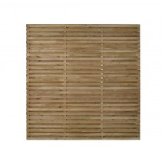 6ft High (1800mm) Forest Contemporary Double-Sided Slatted Fence Panel - Pressure Treated