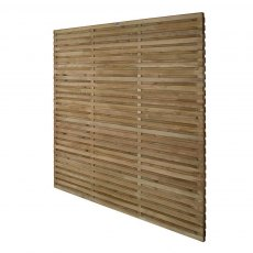 6ft High Forest Double Slatted Fence Panel - Angles view