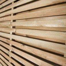 6ft High  Forest Double Slatted Fence Panel  - detail of slats