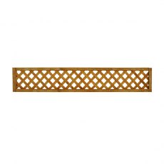 1ft x 6ft (300mm x 1830mm) Forest Diamond Lattice Fence Topper