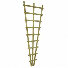 6ft High (1830mm) Malvern Fan Trellis - angled view