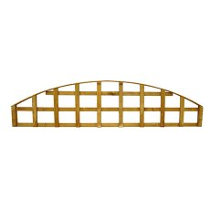 1ft 6in High (458mm) Forest Convex Trellis Fence Topper