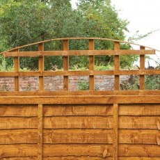 1ft 6in High (458mm) Forest Convex Trellis Fence Topper - detail