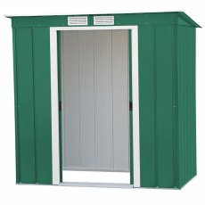 6 x 4 (1.92m x 1.13m) Sapphire Pent Metal Shed in Green