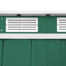 6 x 4 Sapphire Pent Metal Shed in Green - Detail of air vents