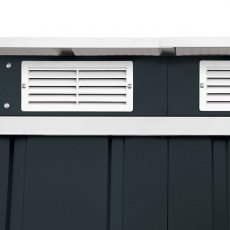 6 x 4 Sapphire Pent Metal Shed in Anthracite Grey - Detail of vents