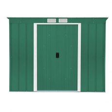 8 x 4 (2.52m x 1.13m) Sapphire Pent Metal Shed in Green