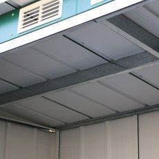 8 x 4 Sapphire Pent Metal Shed in Green - Detail of vents