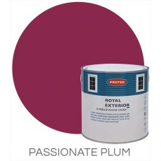 Protek Royal Exterior Paint 5 Litres - Passionate Plum Colour Swatch with Pot