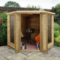 7 x 7 (2.96m x 2.30m) Forest Oakley Corner Summerhouse - Pressure Treated