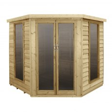 7x7 Forest Oakley Summerhouse - front view doors closed