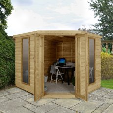 8 x 8 (3.46m x 2.80m) Forest Oakley Corner Summerhouse - Pressure Treated