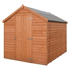 8 x 6 (2.44m x 1.86m) Shire Value Pressure Treated Overlap Shed - Windowless